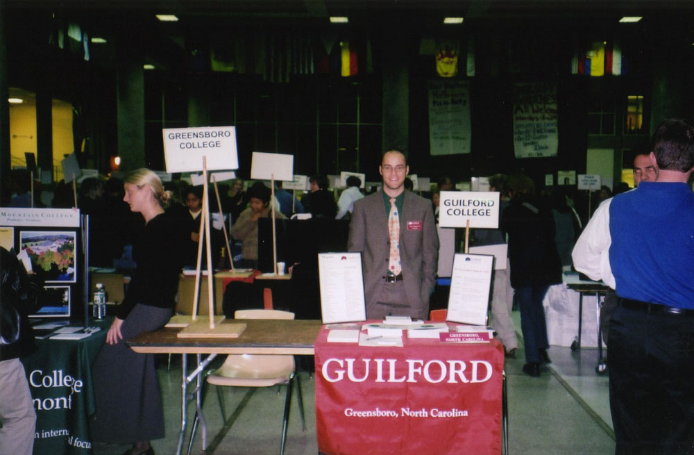 recruiting for Guilford at a college fair