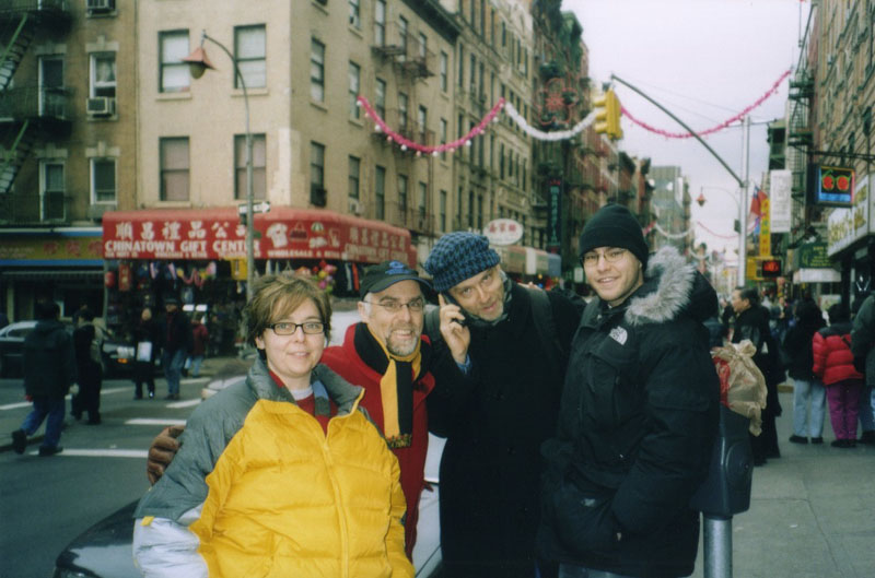 with my siblings in Chinatown