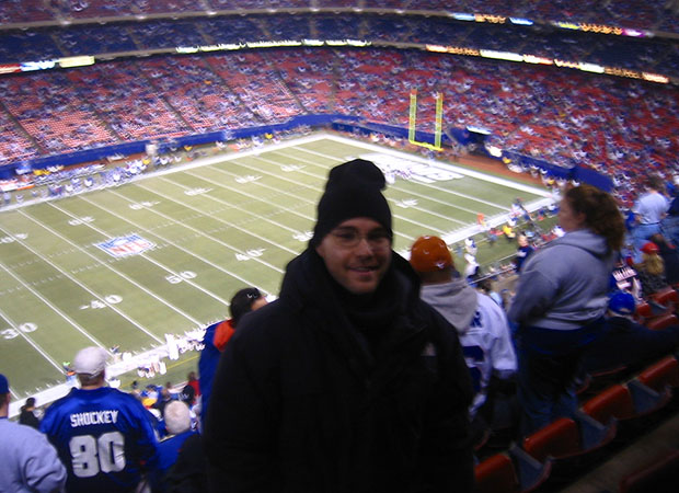 at my first NFL game