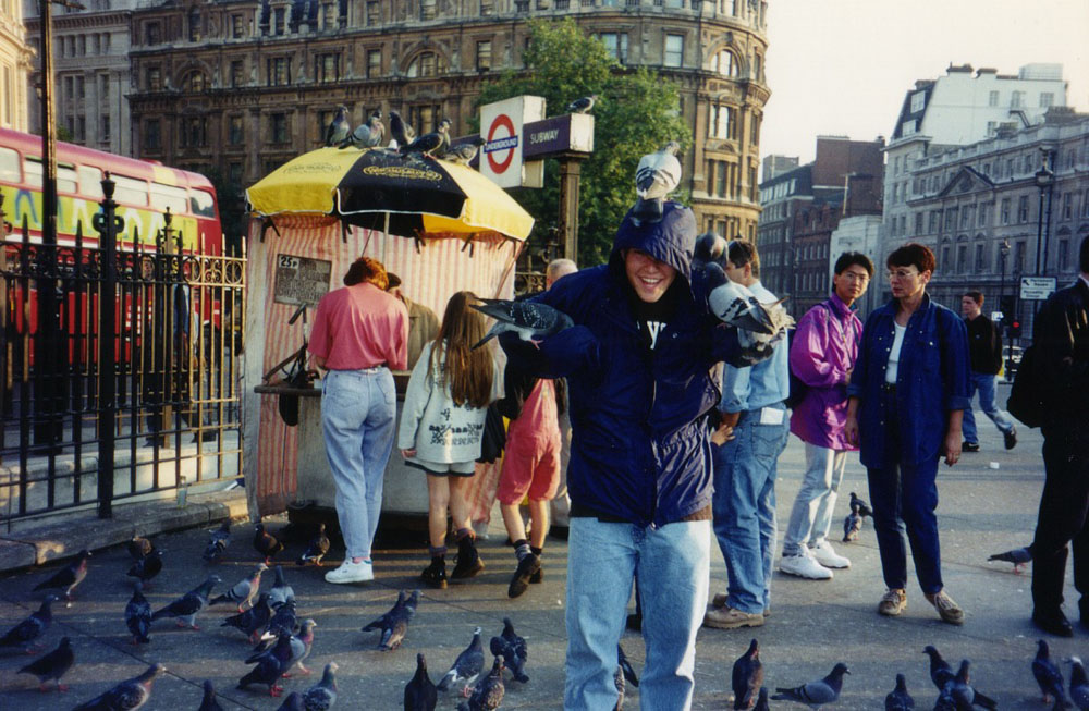 somehow not grossed out by the pigeons at Trafalgar Square