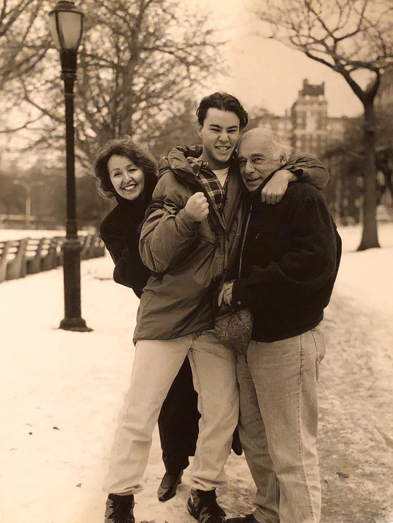 with my parents in Riverside Park