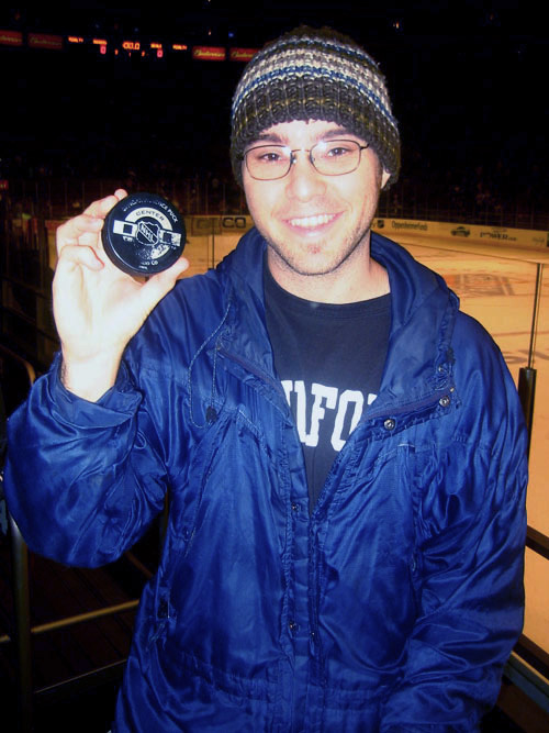 second lifetime hockey game; first lifetime puck