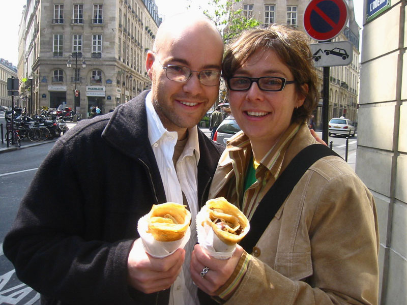 with my sister in Paris