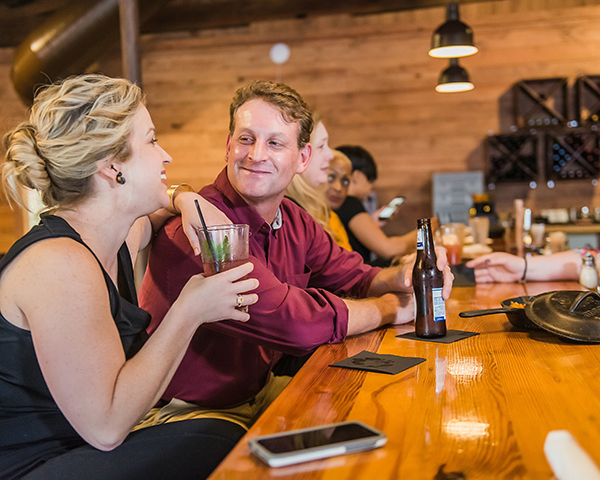 Friends gather at  Highrail, Southern Eatery .