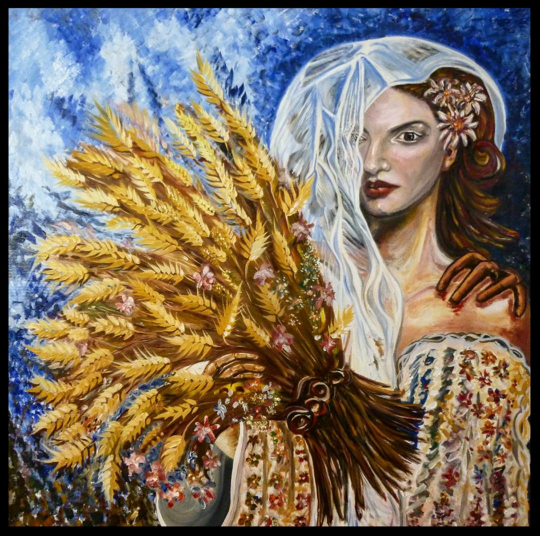 THE SHADOW OF BEAUTY    OIL ON CANVAS    100 CM X 100 CM