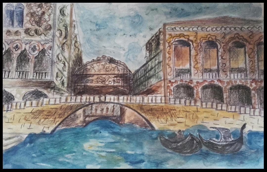 - VENICEWATERCOLOR AND PENCIL48 CM X 33 CM