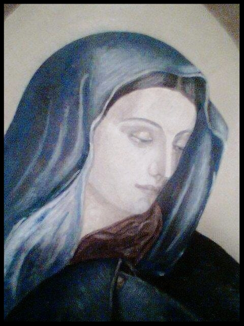THE SADNESS OF MADONNA    OIL ON CANVAS    50 CM X 40 CM