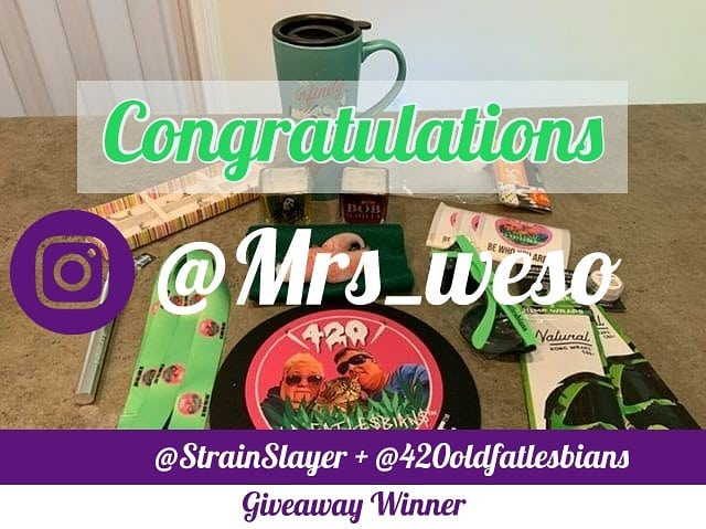 Congrats to @mrs__weso for winning the @420oldfatlesbians + @strainslayer Giveaway. . Thank you to everyone who participated, better luck next time! (4500 follower giveaway coming soon) . DM for collabs . Www.strainslayer.com . . @420_artist  @gamingleague420  @cannabearsjewelry  @cannipeace  @candidcannabisconversations  @askbluntbetty  @strain_slayer_swag . . . #giveaway #free #swag #smokerclub #smokersclub #mmj #cannabis #cannabisnews #strainslayer #strainreviews #florida #beachcleanup #stigma #Slaytheday #Slaythestigma