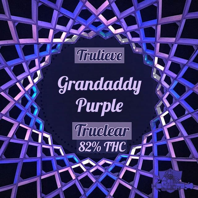 "www.strainslayer.com (Link in bio) . . Strain- Grandaddy Purple (Big Bud x Purple Urkle)  Indica  Distillate Syringe  85% 850 Mg THC  60/G Dispensary- @trulieve_ 🚫Nothing for sale🚫 . . . Granddaddy Purple, the legendary Indica strain which is a cross of big bud and purple Urkle giving it amazing pain relieving and anxiety zapping qualities. Trulieve put a fruity twist on this classic with their #Truclear (distillate) syringes. I refilled my trustik and took a few dabs of this concentrate too which I found a ""bowl of fruit loops"" flavor almost to a tee. The clasic sweet grape flavor is there with some extra jazz. The tropical fruitt flavor seems to linger longer after the exhale which I didnt mind at all. As for effects, this #GDP didnt have the same knockout power as I found with the full flower version of this strain but provided a nice mellow cerebral high and numbed all physical pain from my sore legs to my Burning stomach.  A fast acting, quick onset, but short lasting high that is great for quick pain relief or a perfect way to de-stress at work without feeling too medicated. Patients dealing with anything from Crohn's disease to arthritis, anxiety to depression and everything in between give this strain a shot and let me know what you think! The effects are a bit mild for me but this is a Perfect way to add some sweet flavor to a blunt or a bowl for sure! . . . @sunshinecannabis  @florida_marijuana  @trulieve_  @trulieveemily  @mrs._slayer . . . #mmj #weed #420 #marijuana #dispensary #oil #wax #710 #errl  #kush #og #trulieve #medicalmarijuana #review #strain #strains #girlscoutcookies #purple #Florida #Floridammj #strainslayer #productreview #strains #beachcleanup"