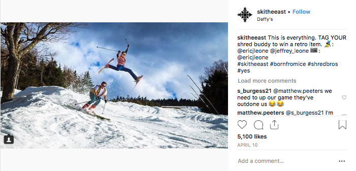 Ski The East Instagram- Spring Skiing Brothers, Over 5,000 Likes
