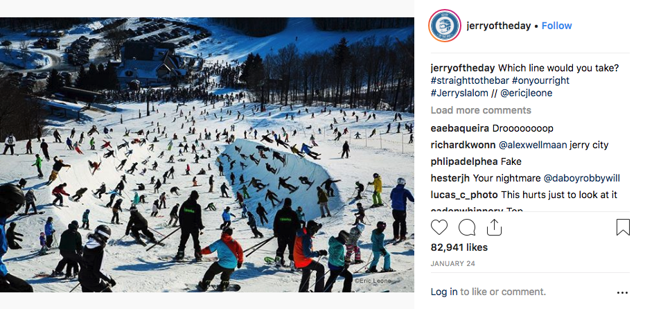 Jerry of the Day Instagram- Superpipe Timelapse, Over 82,000 Likes