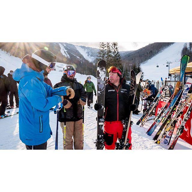 Great time talking and testing skis while hanging with the @parlorskis crew. . . . . . #parlorskis #parlorbeyond #customskis #killington #killingtonvt #killingtontestfest #beast365 #skitheeast #skivt #skivermont #skitest #ilovevermont