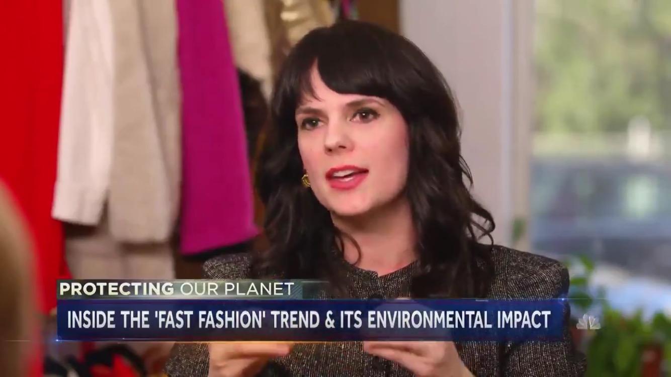 Elizabeth L. Cline on NBC Nightly News, May 5, 2019.