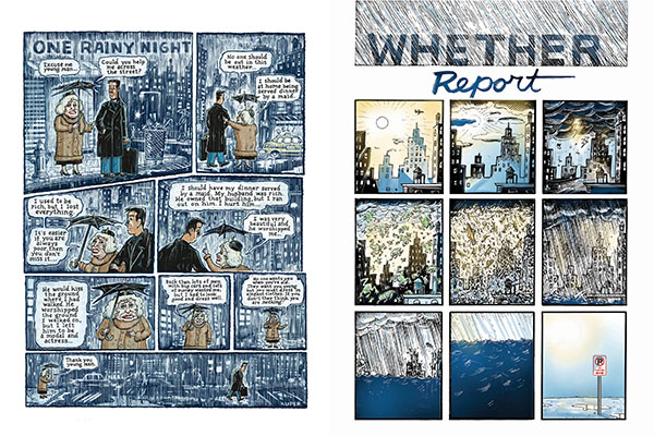 Comix Pages - A small selection of short comics and outtakes from longer stories. For tons more comic art, see Peter's graphic novels and other books.