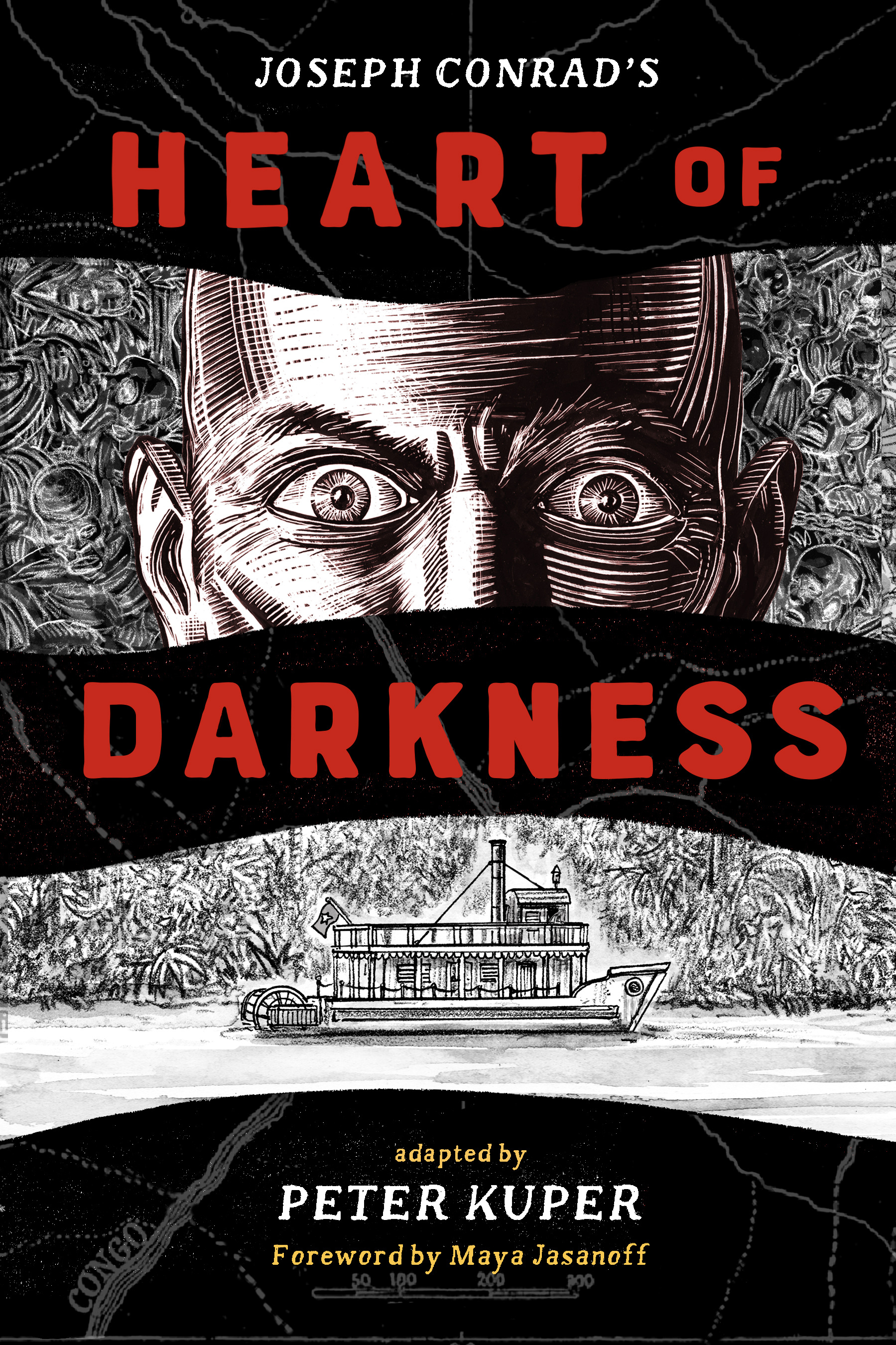 Heart of Darkness - NEW from W. W. NortonComing November 2019ISBN 978-0-393-63564-5Heart of Darkness: has unsettled generations of readers with its haunting portrait of colonialism in Africa. Acclaimed illustrator Peter Kuper delivers a visually immersive and profoundly complex interpretation of this controversial classic evoking the danger and suspense at the heart of this brutal story. His images and concise text confront Joseph Conrad's colonial attitudes and Europe's systemic racism yet leave room for readers to engage with these issues on their own terms. Longtime admirers of the novella will appreciate his innovative interpretations, while new readers will discover a brilliant introduction to a canonical work of twentieth-century literature.