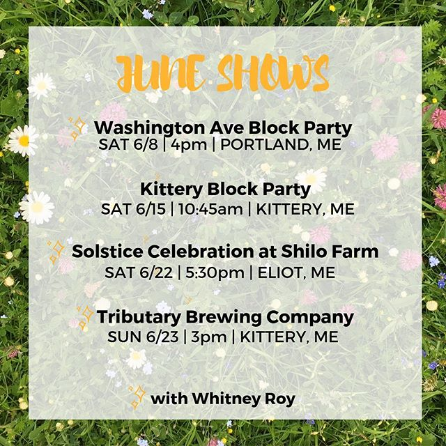 ✨☀️JUNE SHOWS ☀️✨