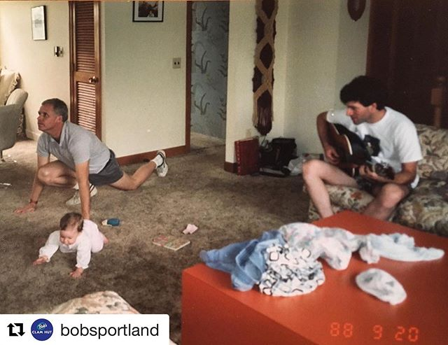 Fox + Uncle M TOMORROW 4-7 on the patio @bobsportland • ・・・ Clam jammin' together since 1988! Catch this dynamic duo in action TOMORROW NIGHT from 4 - 7pm on the Bob's Portland patio! @lfoxmusic (the little baby in this photo) and Uncle M (the dude with the guitar) will perform acoustic classics and originals AND we'll be slinging half price beers, wine, and cider. Will @lfoxmusic's dad make a special guest appearance and lead us in an 80s-inspired group stretch? Guess you'll have to come and find out!
