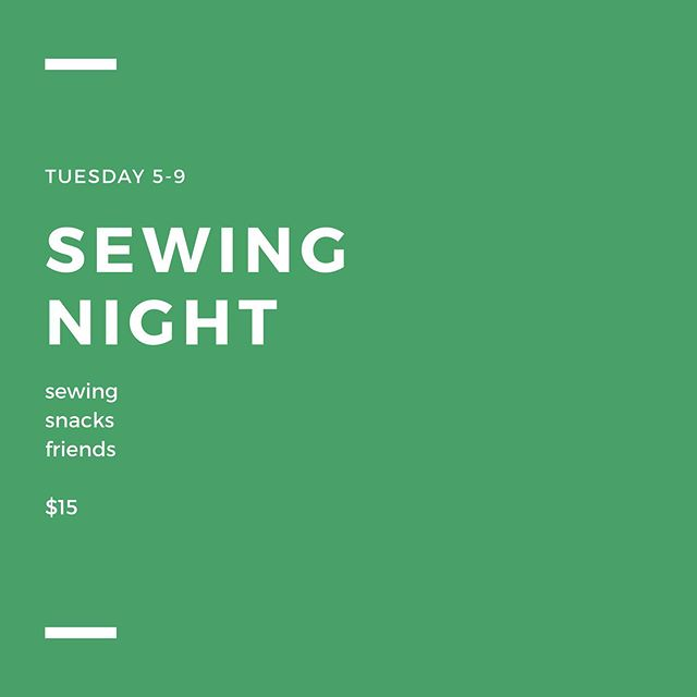 Come sew with some cool people! Bring a project, get guidance and advice, hang out! It's a great time. Sign up online via link in profile.