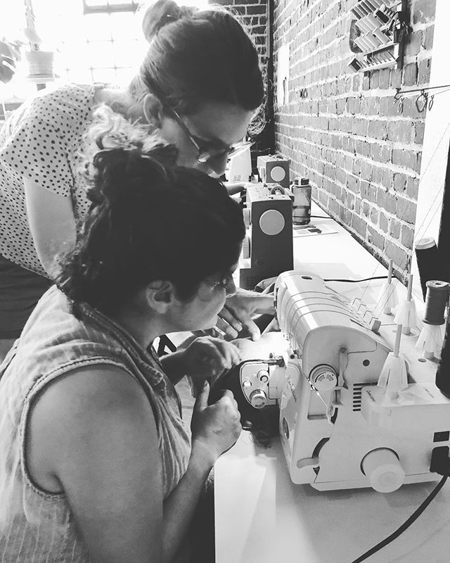 Next Sunday we are having an all day sewing day! Bring a project and or a bunch of unfinished projects. This is the perfect opportunity to get some sewing done in a fun and inspiring atmosphere.  Get expert sewing advice in a warm and fun atmosphere! Snacks and drinks will be provided but you may want to pack a lunch or plan to get something nearby in Midtown.  Street parking is free on Sunday. Bring your own machine or use one of ours.