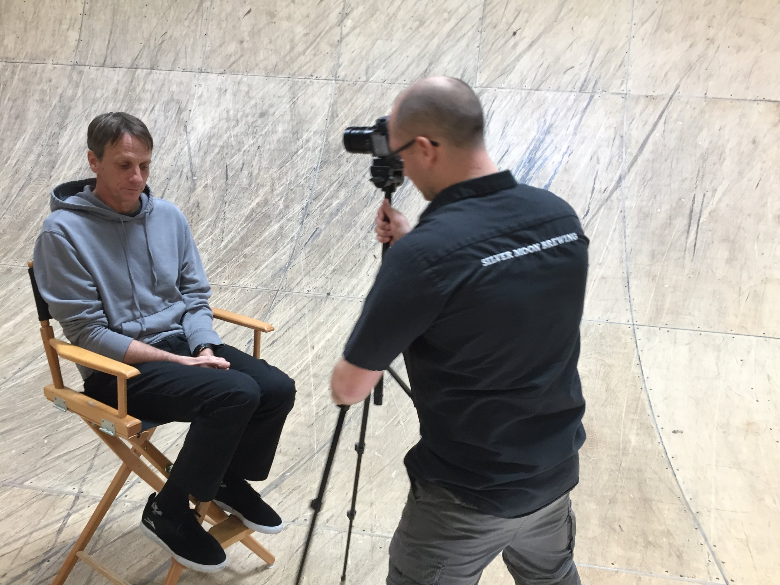 Tony Hawk's interview for 7 Hills.
