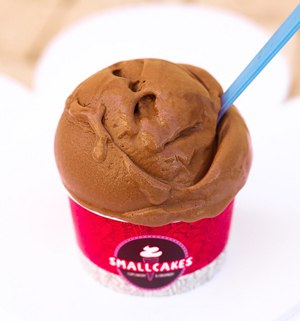 Fudgy decadent chocolate ice cream.