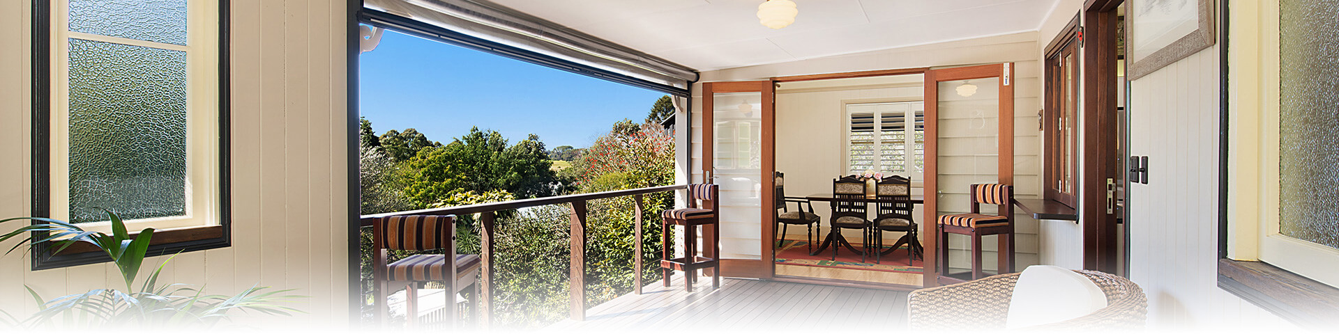 The Guesthouse verandah and Maleny view