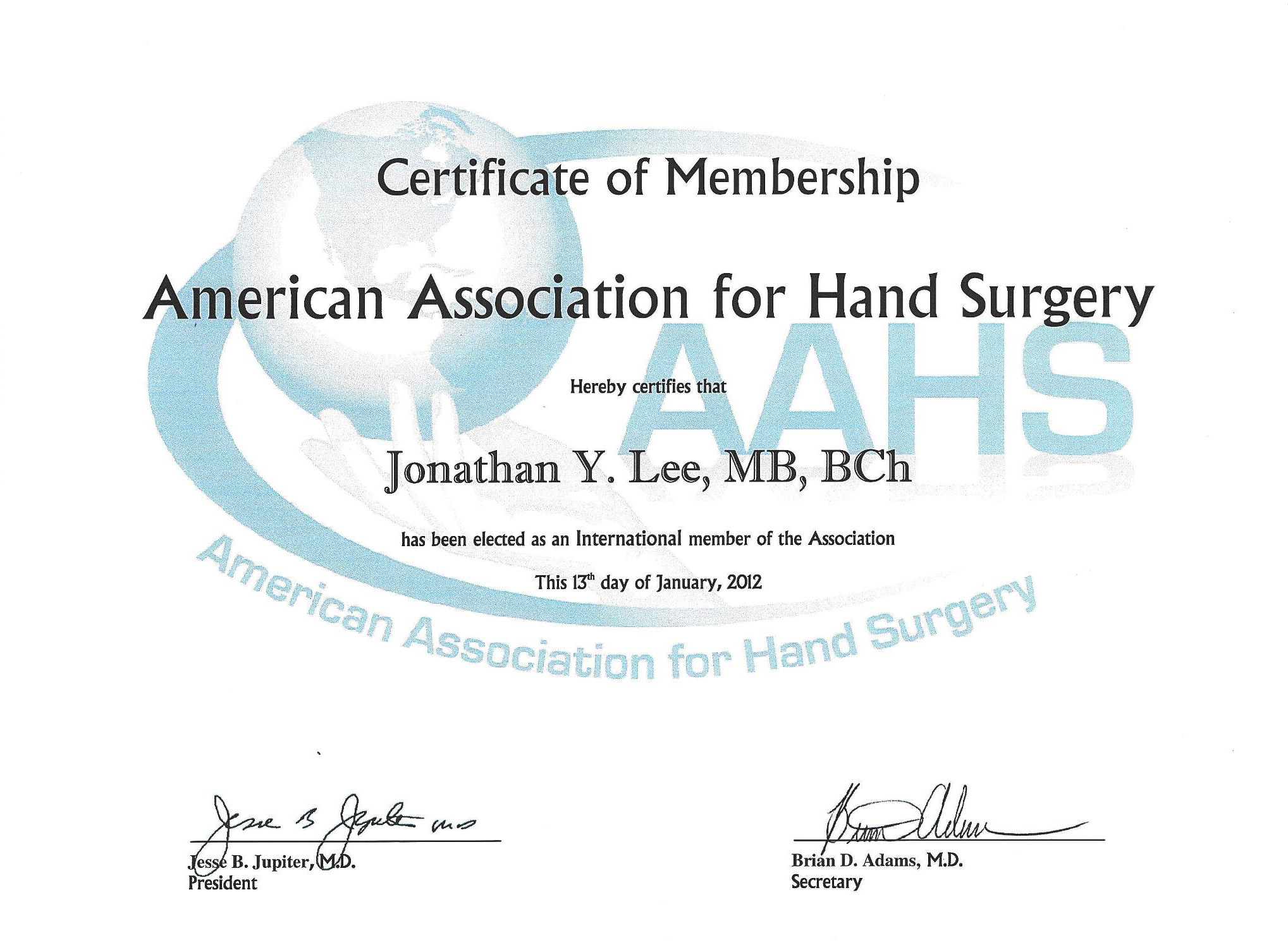 International member of the american association of hand surgery.jpg
