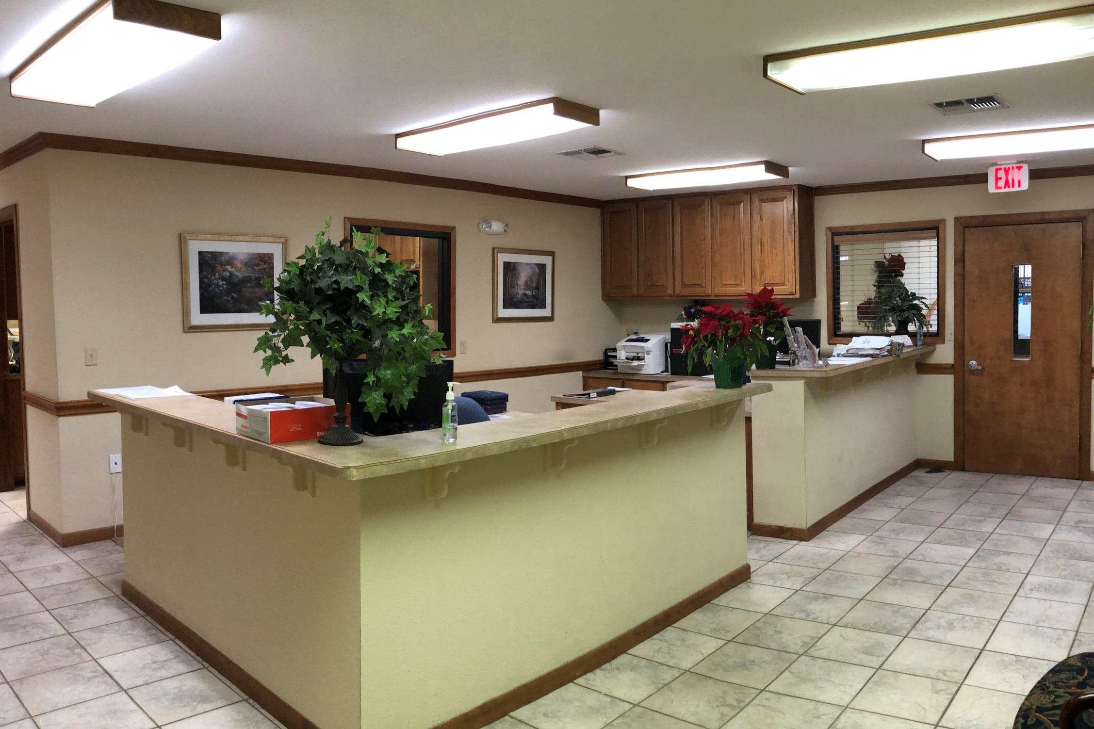 Church office lobby