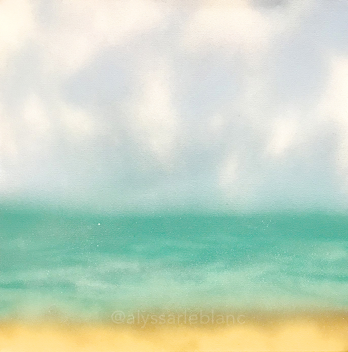 "Reminiscence Spray paint on canvas 20x20"""