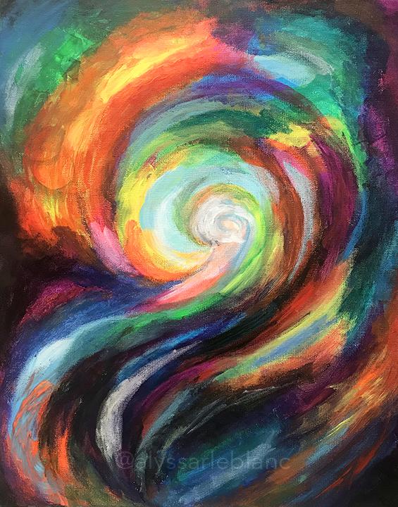 "Colors That Summer Rain Brings Acrylic on canvas 16x20"""