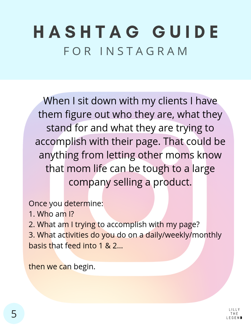 Instagram growth hashtag guide grow your instagram page lilly the legend social media consultant minneapolis minnesota