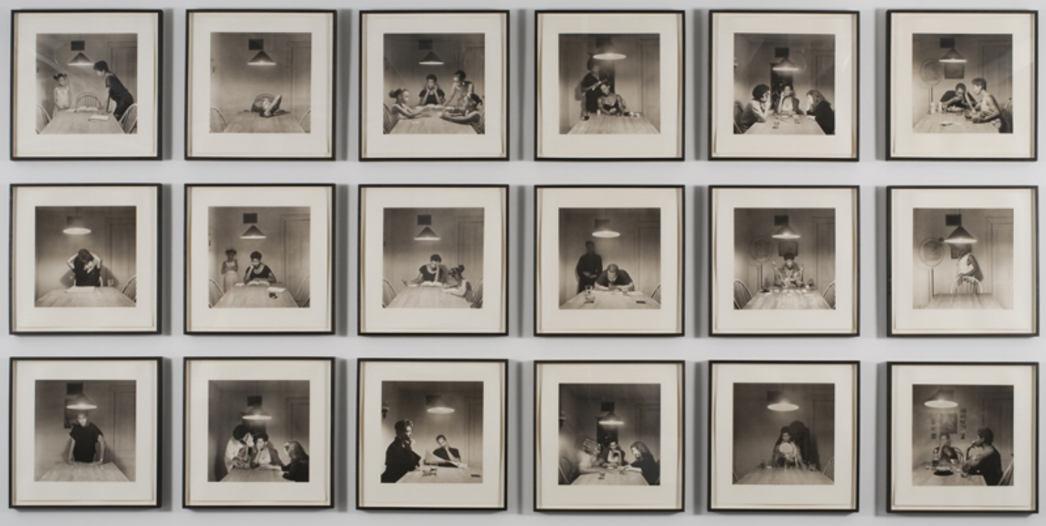 Carrie Mae Weems.  Kitchen Table Series . 1987–1992. Photographed as installed at the Sheldon Museum of Art, Lincoln, 2010.