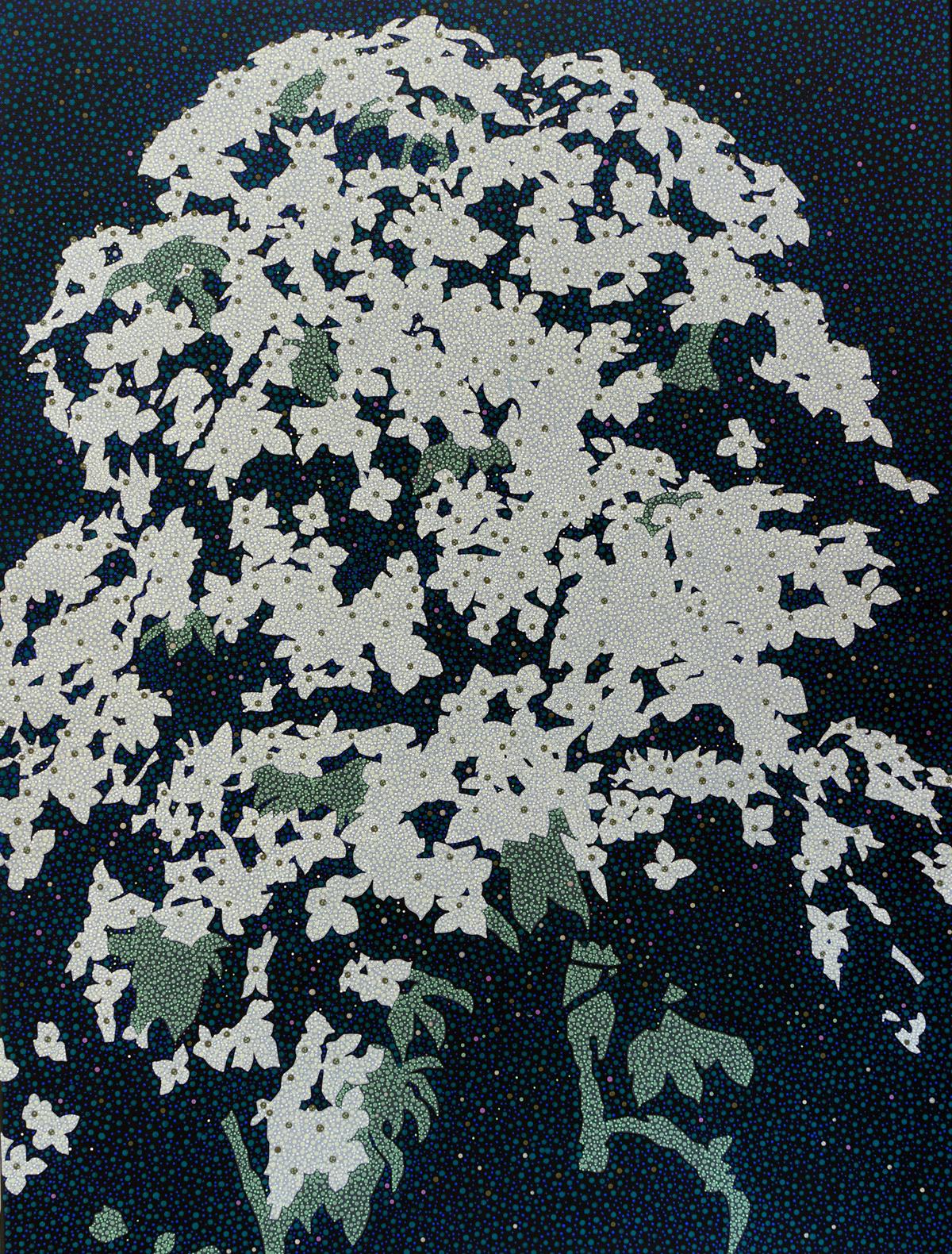 ' 白い花盛り2(in white blossom #2) ' acrylic on canvas 803×603mm