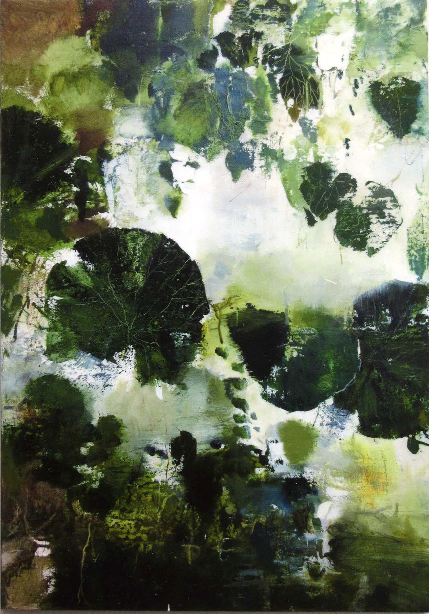 ' 雨 ' acrylic on panel 850×595mm