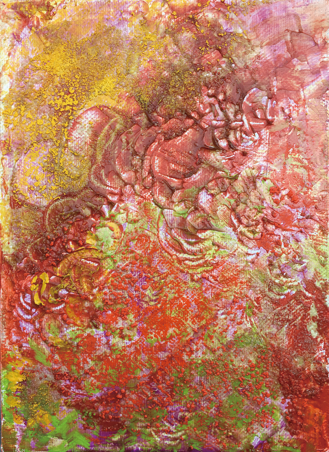 ' Hirara Kirara ' oil, oil pastel, calcite on canvas 335×245mm