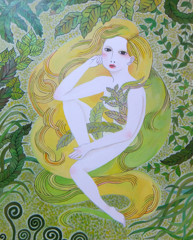 ' 森の娘 ' acrylic on paper 515×728mm