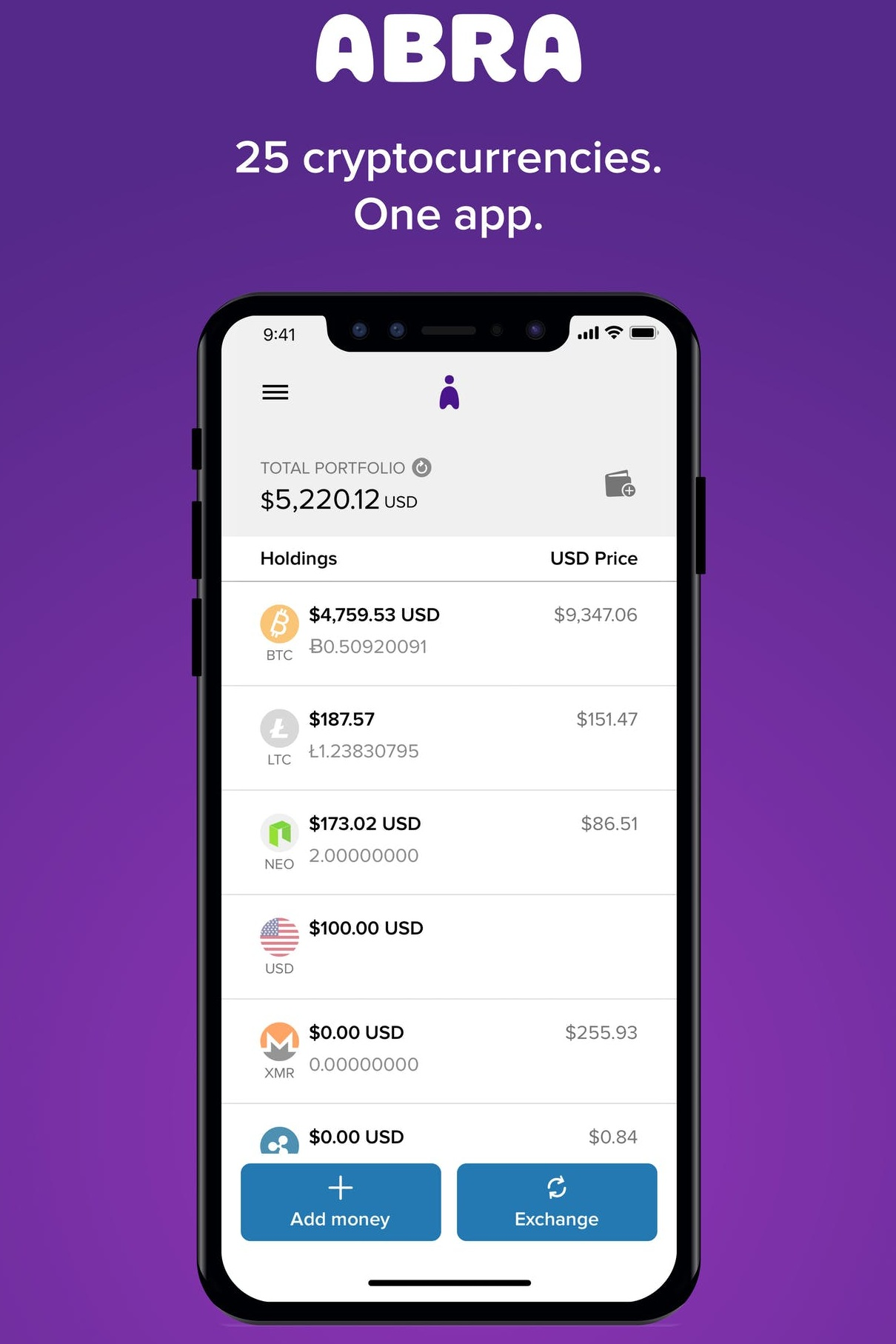 Abra is the only app that allows you to buy, store and invest in 30 cryptocurrencies all in one place. Download the app, set up the wallet, make a minimum $5 deposit and get $25 in bitcoin deposited to your account: https://www.abra.com/datadash