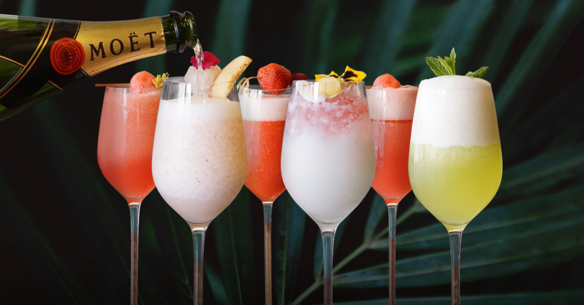 Frozellinis, the World's First Frozen Bellini in 6 Different amazing flavours: Peach and Lychee, Strawberry, Porn Star, Coco Soursop, Missionary's Downfall and Watermelon & Elderflower. What's your favourite?