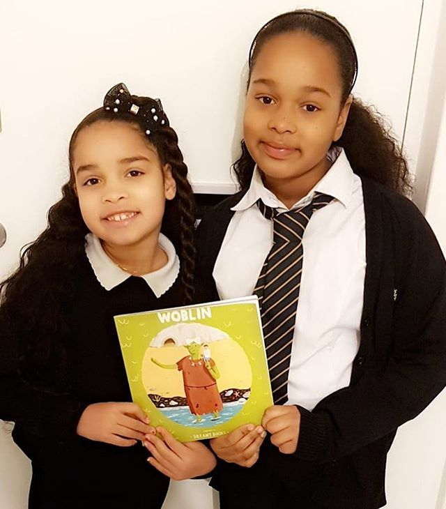 "A lovely #WhereIsWoblin to warm the soul on this chilly evening, tonight!  Woblin is in Harrow with sisters Tamiyah, 7 and Tiyana, 8 - and having a wonderful time of things by all accounts, too! 🤩 We are told Woblin has become a firm favourite - especially at bed time!  Tamiyah tells us, ""Woblin is such a good book! Woblin was sad and then she made a best friend and was happy! I think it's wonderful!"" Awwww, such a beautiful interpretation! Thank you for sending this to us. We say it every time we post these but it makes us SO HAPPY reading these reviews and comments from our awesome readers! Thanks for the support and thank you, too, for giving Woblin a good home! 🤩💚🤩💚🤩💚🤩 Head to www.dreamybooks.co.uk for more Woblin info!  #picturebook #bookstagram #booksforkids #kidsbookstagram #review #bookreview #kindness #friendship #inclusion #bodypositive #diversity #illustration #empowering #kids #family #reading #bookish #lovebooks #indiebooks #shopsmall #onlineshop #children #art #rhyming #poetry"