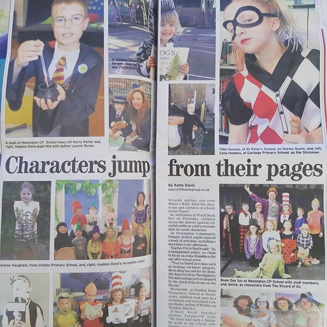 What a lovely surprise! We have been mentioned in the @kent_online Thanet Extra #WorldBookDay feature! A big thank you to #HaddonDene Preparatory School in Broadstairs for sending over the details of our super fun Woblin visit. Brilliant to read how it has inspired the pupils! 💚📗📚 #localnews #news #community #kent #thanet #kentonline #schools #education #books #childrensbooks #reading #read #indiebooks #primaryschool #prepschool #picturebook #kidsbookstagram #art #kidslit #bookish #inclusive #readallaboutit #localproject #media #article #newspaper #localnewspaper