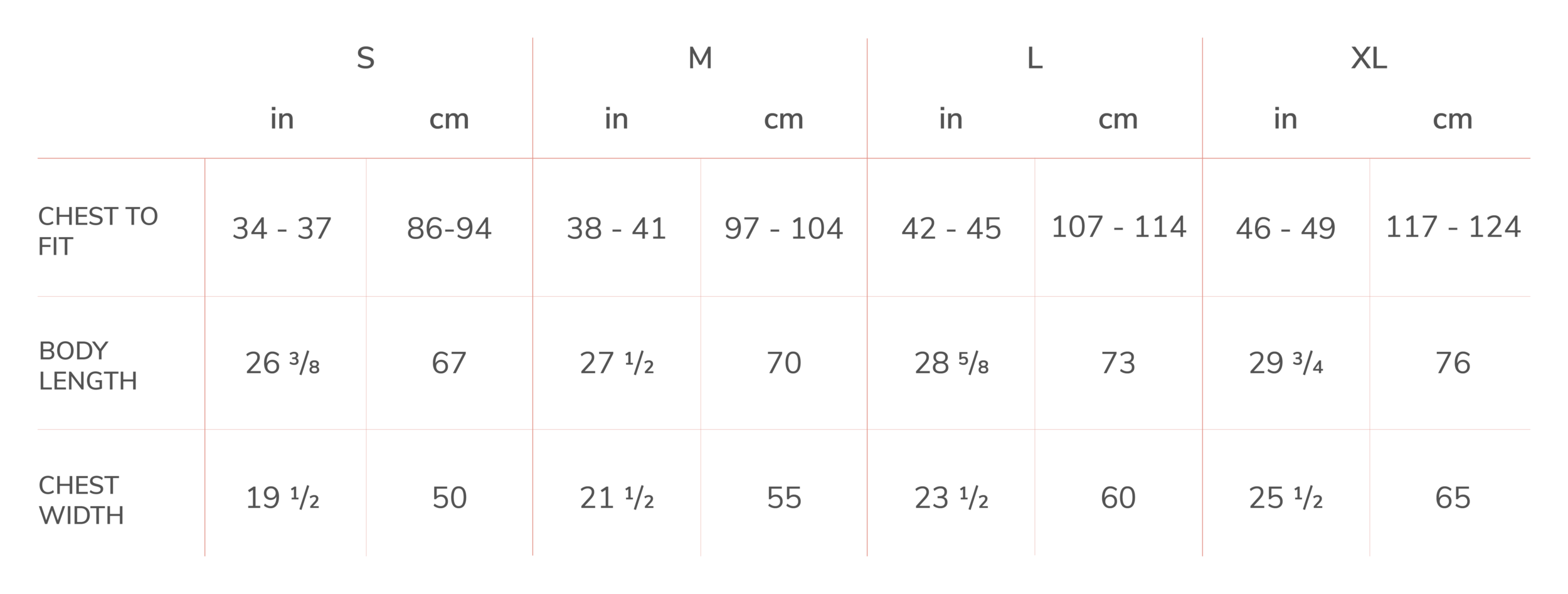 Bella + Canvas 3719 Unisex Hoodie Sizing Chart.png