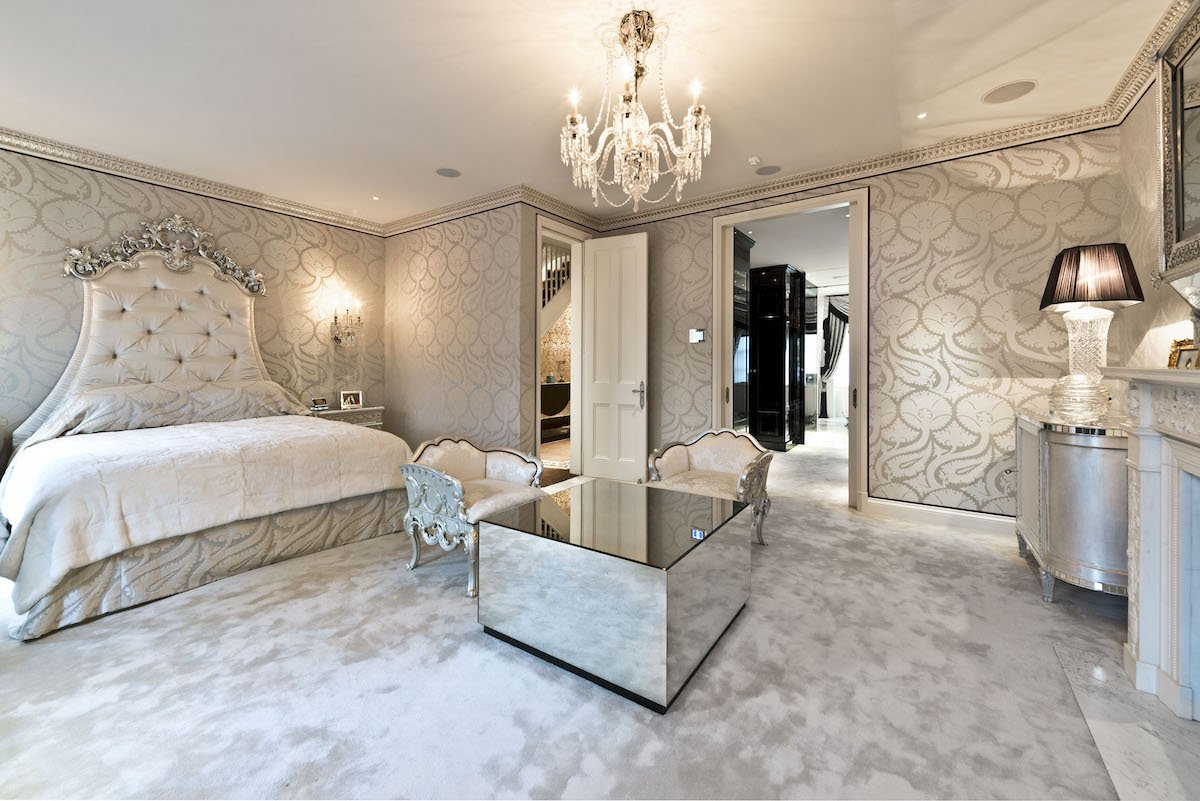 Here's one of the many bedrooms