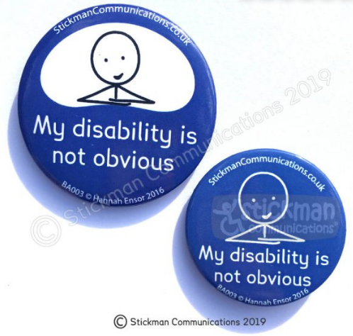 invisible illness pins Not too young for chronic pain badge