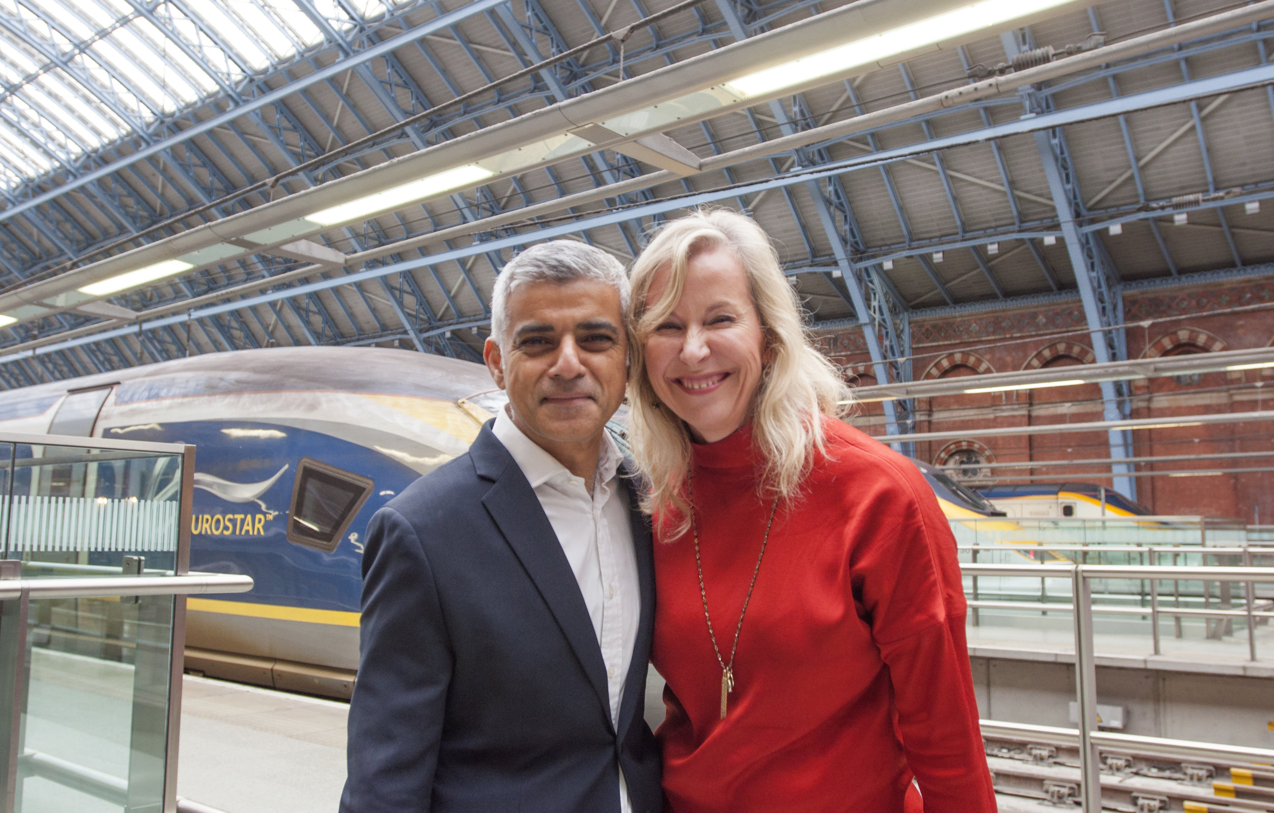 Founder Pam Bateson with London Mayor, Sadiq Khan (2017)