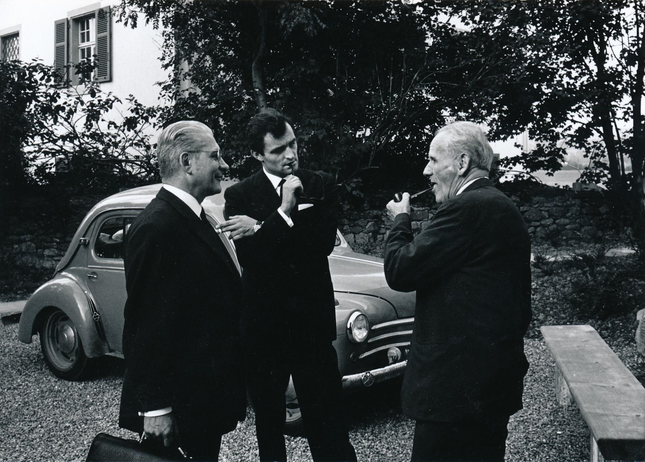 André Jaunet (l), Marcel Moyse (r.) mit Ch.Dutoit (Boswil, 1968)