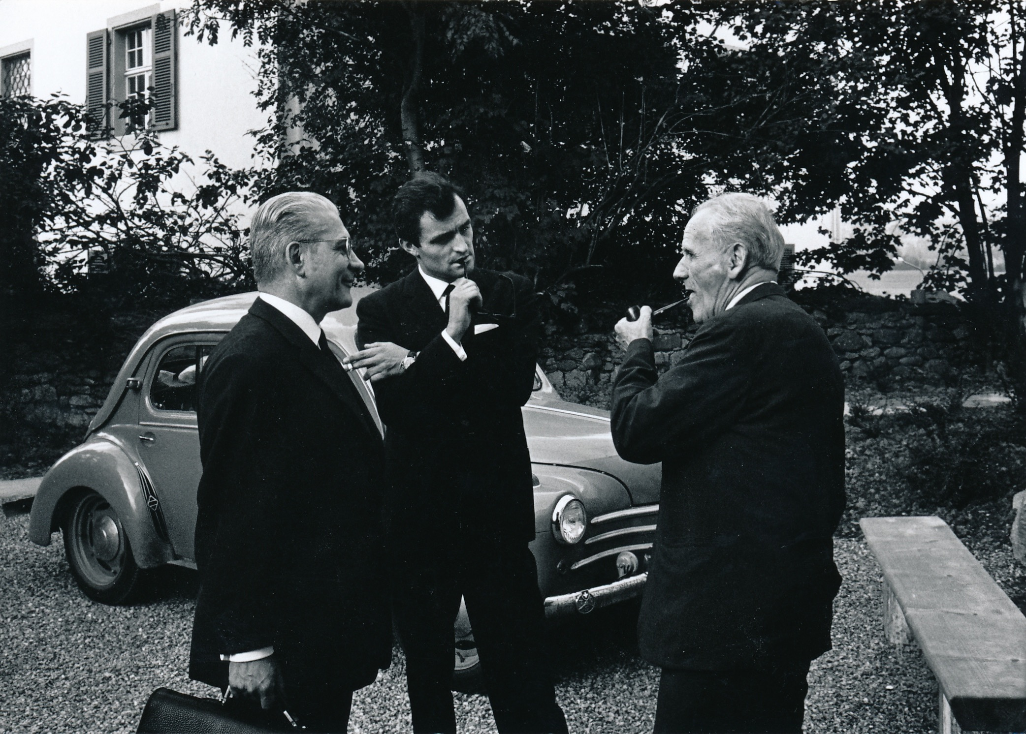André Jaunet (l.), Marcel Moyse (r) with Charles Dutoit (Boswil, 1968)
