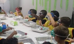 Children Doing a Science Experiment at EverWonder