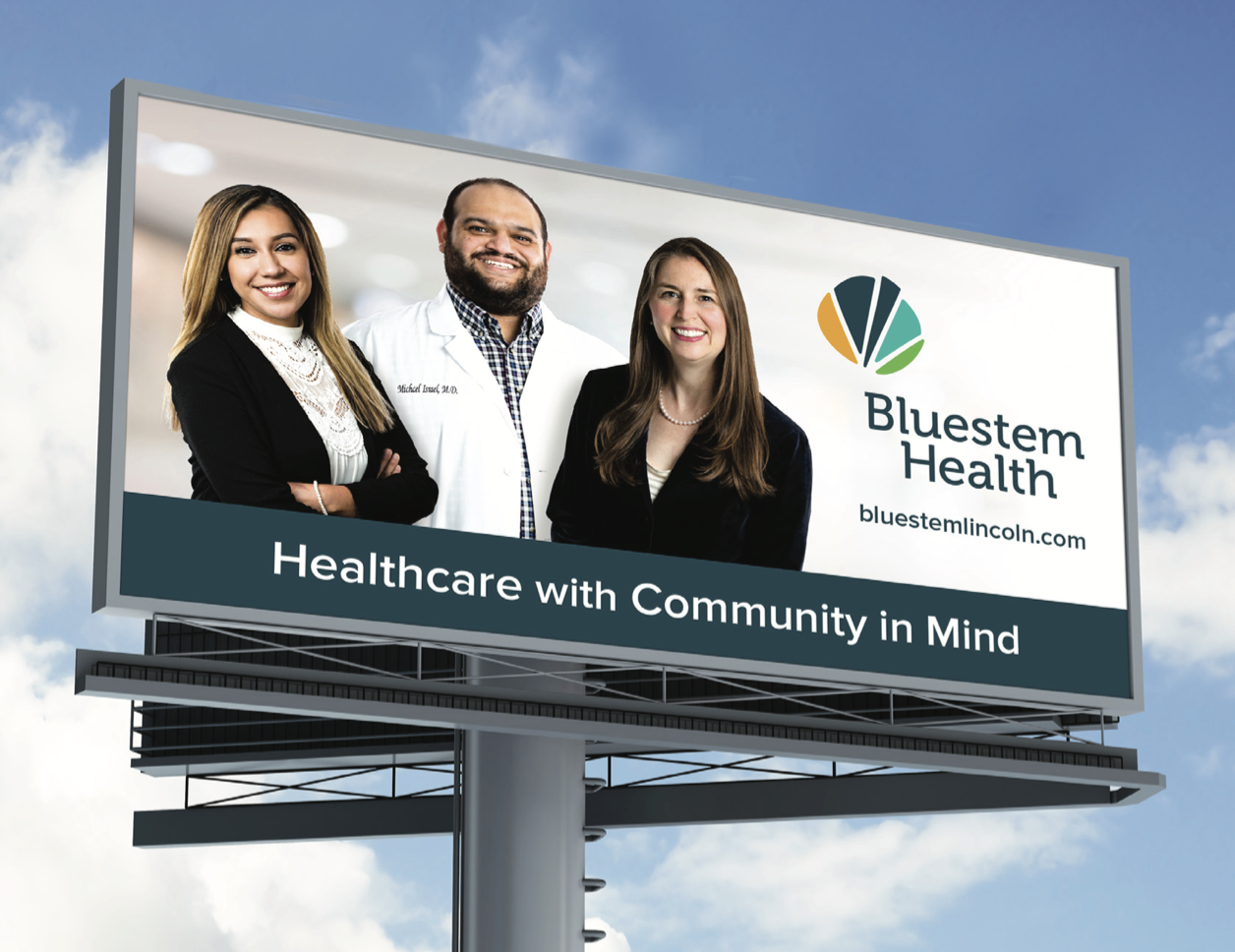 Bluestem Health - Healthcare with Community in Mind Billboard Display