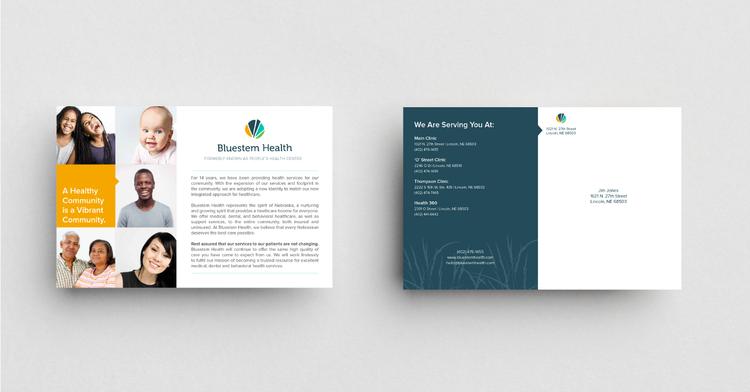 Second image of blog titled Healthcare Branding and Marketing   Bluestem Health Postcard