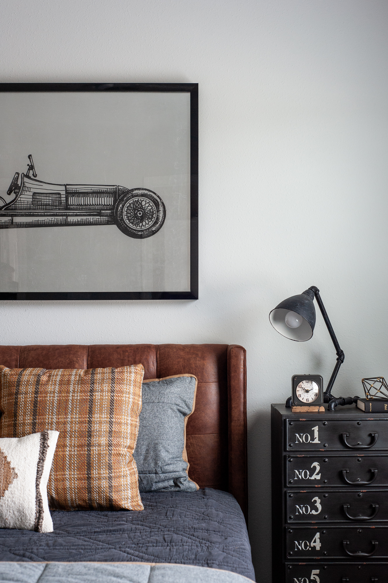 Micamy Design Studio_Model Home_Interior Design_Orchard Cove_Modern Coastal_Universal_Four Hands_McGee & Co_World Market_Wendover_Car Artwork_Leather Bed_Loloi.jpg